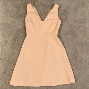Blush pink V-neck dress